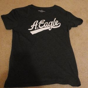 American Eagle T-Shirt Black and White